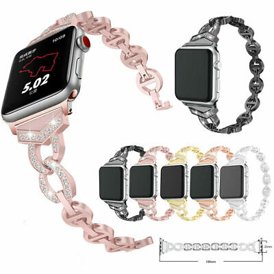 $ CDN5.47 • Buy 38/40mm 42/44mm Women Diamond Strap For IWatch Apple Watch Band Series 5 4 3 2 1