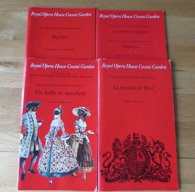 £5.95 • Buy Lot  10   4 X 1970s Royal Opera House Covent Garden Programmes Collectable