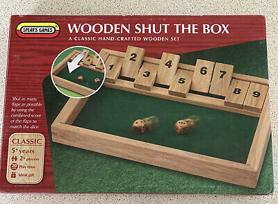 £7.99 • Buy Wooden Shut The Box - Spears Games - Complete - VGC
