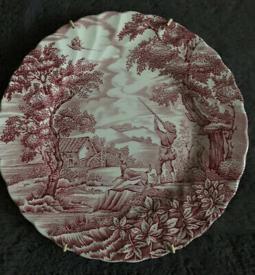 £5 • Buy Pink & White 10  Ceramic Plate, 'The Hunter By Mayott' (392)