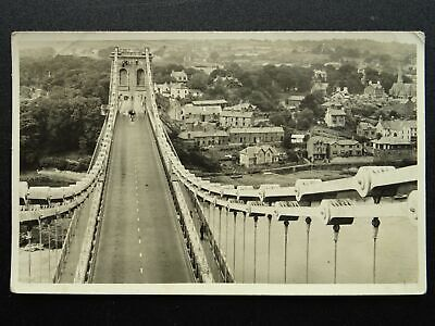 £20 • Buy Wales Anglesey MENAI BRIDGE FROM SOUTH TOWER - Old RP Postcard