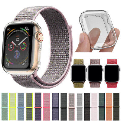 $ CDN5.88 • Buy Woven Nylon Sport IWatch Band + Full Body Cover For Apple Watch Series 5 4 3 2 1