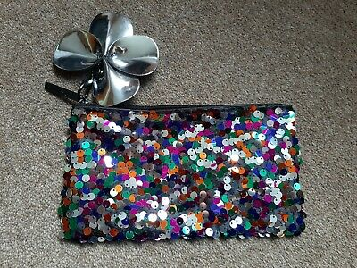 £4.50 • Buy BRAND NEW! Genuine MAC Make Up Sequin Party Makeup Cosmetic Brush Bag Gift