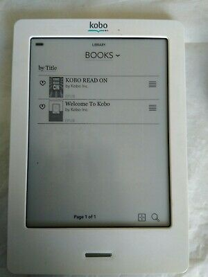 £7.75 • Buy Kobo Touch RG-N905-MFG - S 6  EBook Reader 2GB WiFi Silver Soft-Quilted Back