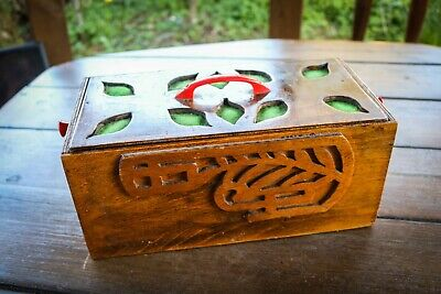 £13.99 • Buy Vintage - Arts And Crafts - Lidded Wooden Box - Hand Made - Unique