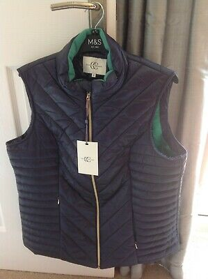 £35 • Buy BNWT STUNNING COUNTRY CASUALS LADIES QUILTED GILET SIZE 16 In DARK BLUE WAS £55