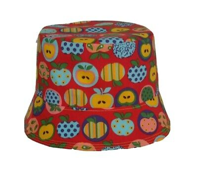 £5.75 • Buy New Reversible Apple Bucket Hat/sun Hat. Festivals. The Stone Roses. Quirky.