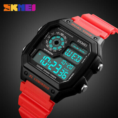 $ CDN13.27 • Buy Men Wristwatch 50m Waterproof EL Lights Date Week Alarm EL Backlight Display 02