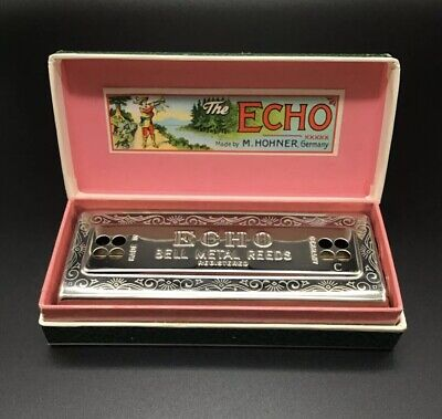 $69.99 • Buy Vintage M. Hohner THE ECHO HARP Double Sided Harmonica - Made In Germany