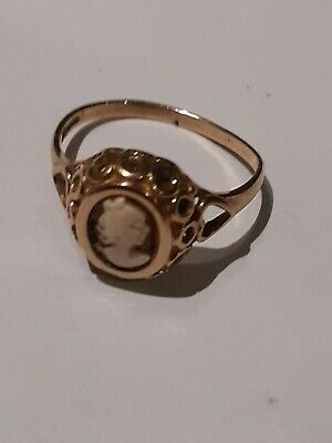 £25 • Buy Gold Cameo Ring 375 9ct