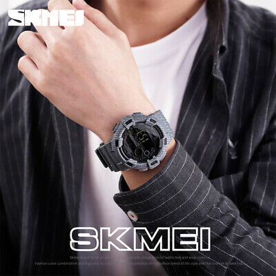 $ CDN14.07 • Buy Skmei Digital Wristwatch Men Outdoor 50m Waterproof Military Sport Watch 1472 7