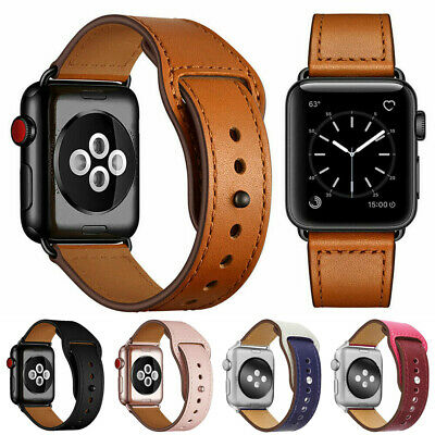 $ CDN10.88 • Buy Genuine Leather Wrist Band Strap For Apple Watch Series 6 SE IWatch 40mm 44mm
