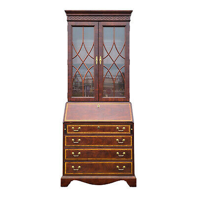 $1800 • Buy THOMASVILLE Mahogany Collection Chippendale Secretary Desk With Bookcase Top