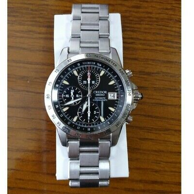$ CDN1814.93 • Buy SEIKO CREDOR 6S78-0A10 Phoenix Chronograph Date Automatic Black Dial Watch