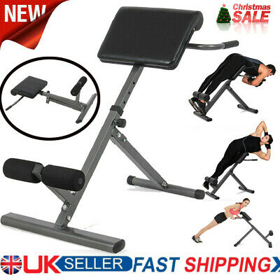 £59.98 • Buy Back Hyper Extension Foldable Roman Chair Fitness Exercise Bench Hyperextension