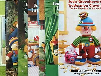 £6.95 • Buy Jean Greenhowe's Character Knitting Pattern Booklets. New.
