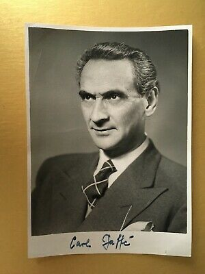 £1 • Buy Carl Jaffe - German Born Actor - Dads Army - Rare Signed Vintage Photo