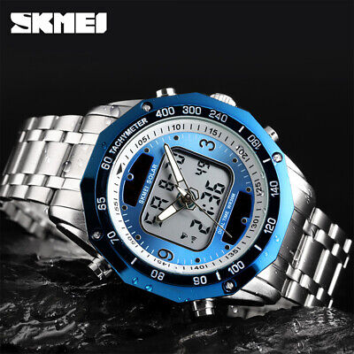$ CDN22.11 • Buy SKMEI Luxury Men Quartz Watch Dual Time Solar Power Waterproof Wristwatch 1493