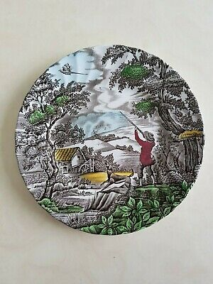 £4 • Buy Decorative China Plate 'The Hunter' By Myott Hand Engraved, Excellent Condition