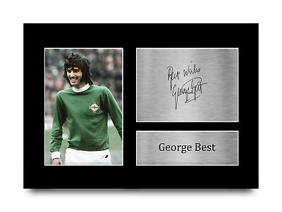 £14.99 • Buy George Best Great Gift Idea Printed Autograph A4 Picture For Football Fans