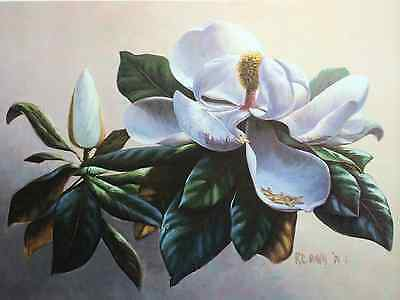 $22 • Buy Magnolia By RC Davis Floral Signed And Numbered
