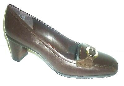 £14.99 • Buy ROCKPORT Brown Leather Classic Heeled Work Court Shoes EUR 37.5 Fit UK 4.5