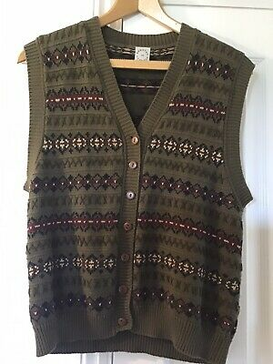 £7.50 • Buy Country Casual Vintage Cotton Waistcoat Sz L