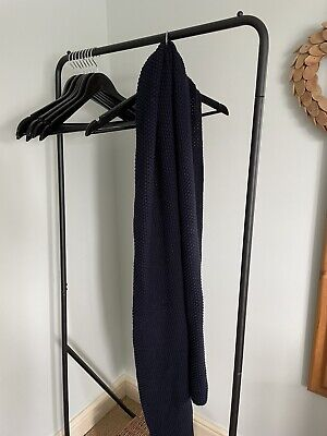 £10 • Buy Sophie Allport Long Navy Cable Knit Scarf