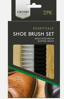 £3.15 • Buy 2pc Traditional Boot SHOE Brush Polish Buffing Buff Shine Leather Clean Smart