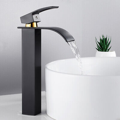 £33.29 • Buy Tall Waterfall Bathroom Taps Basin Mixer Tap Counter Top Brass Faucet Chrome IC+