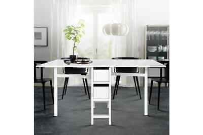 AU179 • Buy Artiss Dining Table Extendable Folding Tables Drawers Storage White Restaurant