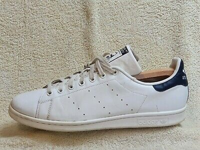 AU9.05 • Buy Adidas Originals Stan Smith Mens Trainers Leather White/Navy UK 12.5 EUR 48 US13