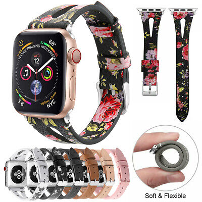 $ CDN3.80 • Buy IWatch Leather Band For Apple Watch Series 5 4 40mm Series 3 2 38mm Strap Women