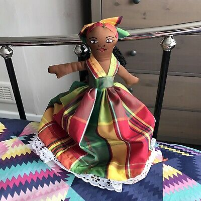 """£7 • Buy Topsy Turvy Doll Barbados Two Dolls In One 14"""""""