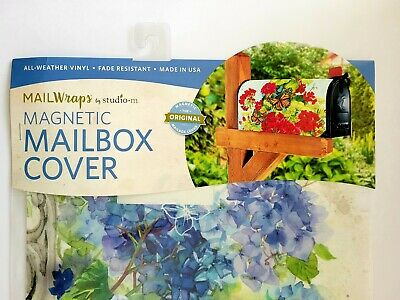 $4.80 • Buy Blue Floral Magnetic Mailbox Cover MailWraps StudioM 6.5 X19  Standard Size