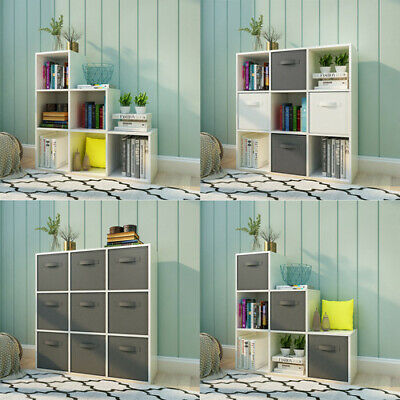 £72.90 • Buy Wooden 6/9 Cube Bookcase Shelving Unit Display Storage Shelf Office Home White