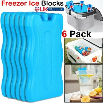 £7.89 • Buy 6 X Reusable FREEZER Cool BLOCKS Ice Pack Cooler Bag For Picnic Travel Lunch Box