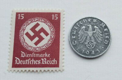 £3.99 • Buy Third Reich World War 2 Coin & Hitler Stamp Set Military History And Memorabilia