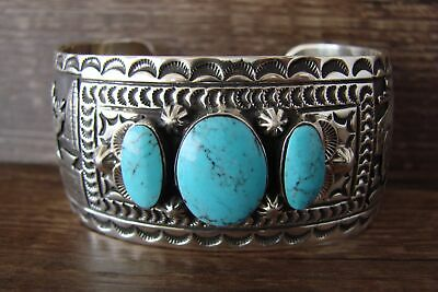 £386.91 • Buy Navajo Jewelry Sterling Silver Turquoise Wild Life Story Bracelet By June Del