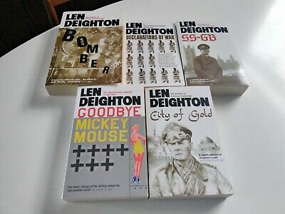 £9.99 • Buy 5 Len Deighton Spy Thrillers Bomber City Of Gold SS-GB Goodbye Mickey Mouse