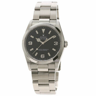 $ CDN10819.81 • Buy Free Shipping Pre-owned Rolex 114270 Explorer 1 Roulette Black Dial
