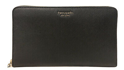 $ CDN133.45 • Buy Kate Spade Cameron Extra Large Travel Wallet Black Leather Zip Around New $249