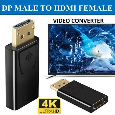 £2.99 • Buy 4K Display Port DP Male To HDMI Female Flat Adapter Converter Cable 1080P HDTV