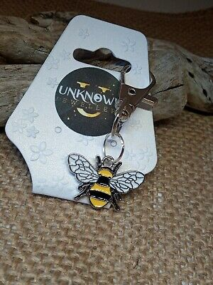£4.95 • Buy Bee Honey Bumble Charm, Keyring, Clip On Bag Charm,Gift  Flowers Beehive 🐝