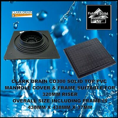 £29.50 • Buy Clark Drain  Cd300 Solid Top Square Manhole Cover & Frame For 320mm Riser