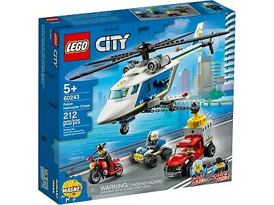 £24.99 • Buy LEGO City Police Helicopter Chase Building Set 60243 - NEW/SEALED - Kids Toy 5+