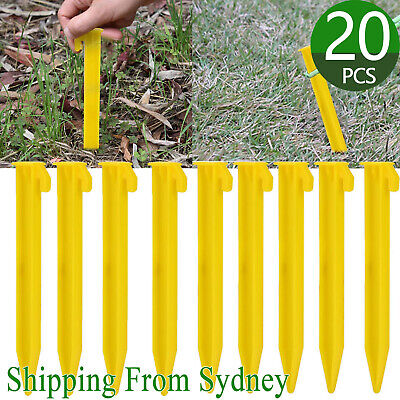 AU14.29 • Buy 20X Plastic Tent Awning Pegs Nails Sand Ground Stakes Outdoor Camping Hiking AU