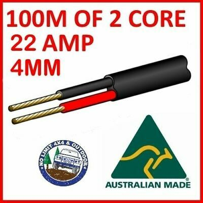AU115 • Buy 100m Of 2 Core 4mm Wire Cable Battery Trailer Truck 12v 24v 30m Twin Metres