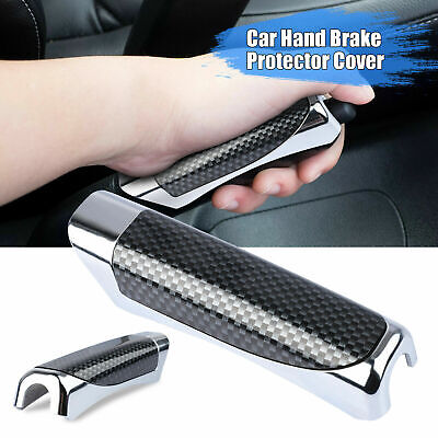 AU9.88 • Buy In-Car Carbon Fiber Style Hand Brake Protector Decoration Cover Car Accessories