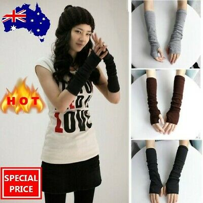 AU7.49 • Buy Stretchy Arm Warmers Long Fingerless Gloves Fashion Mittens Women Hot Clothing